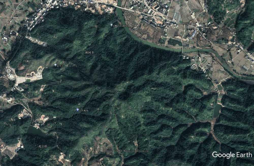 高坑村死火山